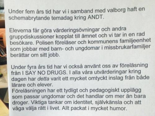 I SAY NO DRUGS - en drogförebyggande kampanj från Droginformation.nu