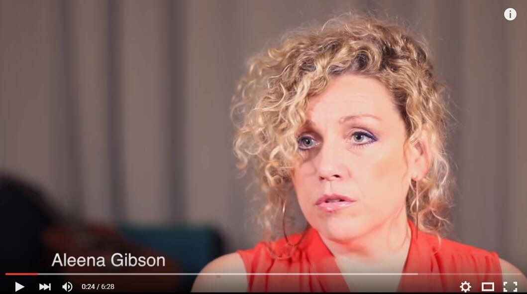 Aleena Gibson i filmad intervju för I SAY NO DRUGS, Droginformation.nu