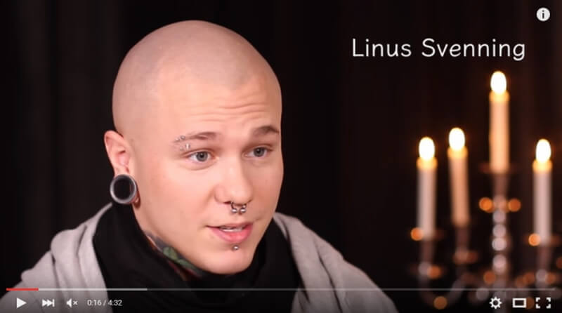 Filmad intervju med Linus Svenning för I SAY NO DRUGS