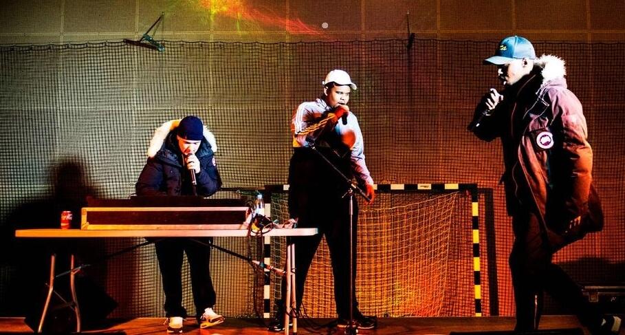 I SAY NO DRUGS på Biskopsgården i Göteborg, bejublat uppträdande i Sjumilahallen.