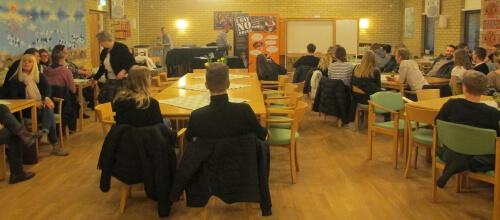 I SAY NO DRUGS på en församling i Skåne och gav drogföreläsning