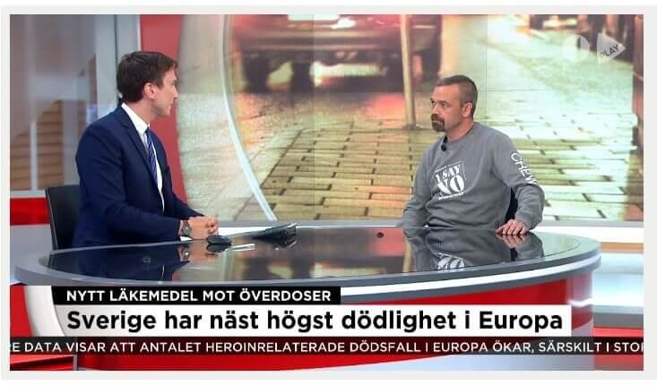 Alex Breeze, I SAY NO DRUGS, intervjuas i TV 4 Nyheterna