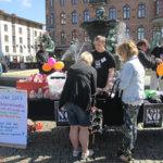 I SAY NO DRUGS var på Järntorget i Göteborg och delade ut förebyggande droginformation på FN:s Internationella dag mot missbruk och olaglig handel med narkotika.